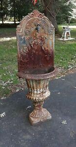 Old Or Antique Cast Iron Garden Fountain