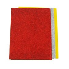 Glitter EVA Foam Sheet, Assorted Color, 8-Inch x 6-Inch, 6-Piece