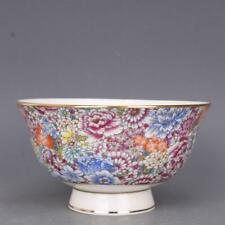 Collect China jingdezhen Porcelain Famille Rose All Flowers Bloom Together Bowl