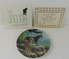 "Great Cats Of America 1st. Issue In Series ""The Jaguar"" 1989 Plate By Lee Cable"