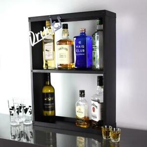 Drinks Cabinet Bar Wine Gin Modern Cocktail Display Storage Unit Metal Kitchen