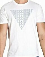 Guess Mens T-Shirt Classic White Size Large L Graphic Logo Prism Tee $24- 033