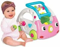 Infantino 3 In 1 Sensory Discovery Car Push Along Learning with Sound Pink 6-36m