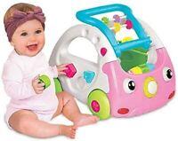 Infantino 3 IN 1 Sensorial Discovery Coche Empujar Aprendizaje con Sonido Rosa