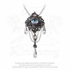 Alchemy Gothic magia naturale: la LEGGENDA DELLA FORESTA Collana con Pendente Occhio P666