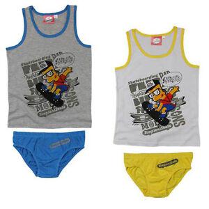 New Set Underwear 2tlg. Set Boy's Undershirt Panties Simpsons 110 - 140 #76