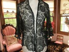 Gorgeous Antique Chantilly Lace Jacket/Wrap Black Estate Find