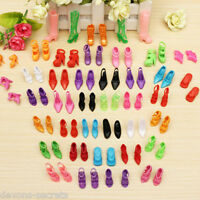 10, 20 or 30 PAIRS Barbie doll clothes mermaid dress shoes high heels assorted