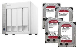 € 696+IVA QNAP TS-431P2 8GB Quad-Core NAS 24TB(4x6TB WD RED) 2xGbE USB3 WARRANTY