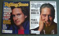 2 ROLLING STONE Magazine MICHAEL DOUGLAS Bob Dylan No. 465 & 517, 1986 & 1988