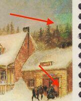 FREAK - ERROR = UPSIDE DOWN CHRISTMAS TREE = Canada 1972 #610i [ec156]