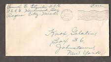 May 1944 WWII cover Samuel C Etzwiler S.C. 3/c USCG Hammond Bay Rogers City MI