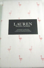 Ralph Lauren Standard  Pillowcases Pink Flamingos  100% Cotton Set of 2