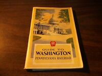 FEBRUARY 1930 PRR PENNSYLVANIA RAILROAD GUIDE TO WASHINGTON, DC