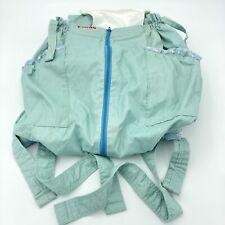 Vintage Snugli Baby / Dog Carrier Adjustable Mint Blue Green Rocking Horse Inner