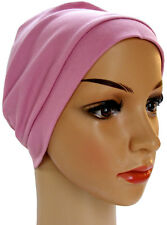 HEADWEAR FOR HAIR LOSS.CHEMO. LOUNGE DAY NIGHT SLEEP CAP HAT 100% COTTON JERSEY