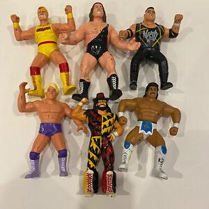 "WCW OSFTM TOYMAKERS WRESTLING FIGURE LOT Of 6x 8"" Figures Hulk Macho Man Giant"