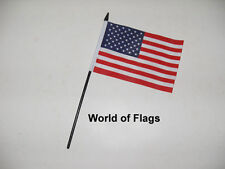"USA SMALL HAND WAVING FLAG 6"" x 4"" US America Crafts Table Desk Display"