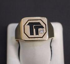 10 K Yellow Gold Men's Diamond Ring Size 11.75