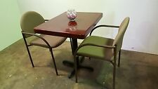 """NEW CAFÉ TABLE 24"""" x 30"""" AND TWO CHAIRS"""