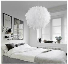 Modemn Home Bedroom Feather Ceiling Pendant Droplight Parlor Hanging Lamp Decor