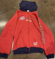 MONTREAL CANADIENS REEBOK HOODIE SWEATSHIRT LONG SLEEVE YOUTH 14 LARGE NHL GIRLS