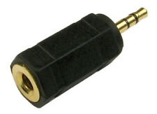 GOLD 2.5mm Male Jack to 3.5mm Stereo Socket Adapter PHONE MOBILE iPAD ANDROID