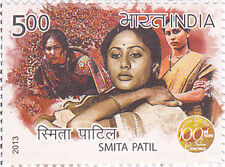 PHILA2869 INDIA 2013  SMITA PATIL - 100 YEARS OF INDIAN CINEMA MNH