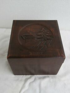 Tabatiere Tabakdose Holz geschitzt tobacco box carved wood