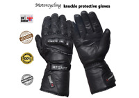 motorbike motorcycle protective leather gloves knuckle protection waterproof
