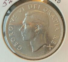 1952 Canadian  Silver Dollar (circulated & cleaned)