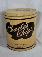 Old Vintage Charles Chips Can Tin Musser's Potato Chips Inc. Mountville Pa.