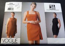 Vogue 2110 State of Claude Montana Dress Sewing Pattern Sz 12 14 16 1998 Sheath
