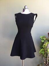 H&M Solid BLACK Zipper Back  PEPLUM DRESS Women's Size 2