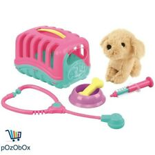 Junior Vet Pretend Plush Dog Puppy Toy Care Role Play Carrier Fun Playset Case