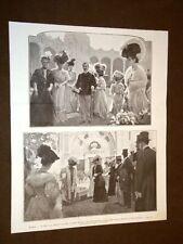 Milano nel 1906 Re e Regina Thè d'onore Esposizione delle Dame Lavori femminili