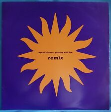 """Age of Chance - Playing with Fire - Remix - 12"""" Single - Virgin - 2 tracks"""