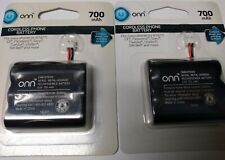 TWO*SETS *OF *ONN *CORDLESS PHONE BATTERY 700mAh 3.6V - ONB16TE003 BRAND NEW