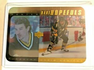 1996-97 UPPER DECK HH16 MARIO LEMIEUX HART HOPEFULS GOLD SP ACETATE /100 RARE!