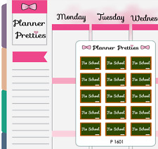 P1601 No School Planner Stickers