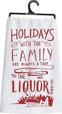 Hoildays With The Family Funny 100% Cotton Tea Towel