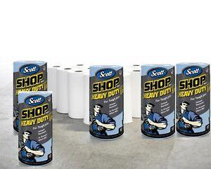 Scott Professional Heavy Duty Shop Towels, 3X Stronger when Wet, 60 Sheets,