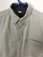 Vintage Tommy Hilfiger Beige T Shirt Long Sleeve Size Medium