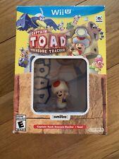 Captain Toad: Treasure Tracker Bundle with Toad Amiibo Nintendo Wii U Brand New