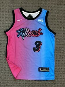 Dwyane Wade Miami Heat Swingman Jersey - Vice City Edition #3 Size Large