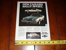 1975 CHEVROLET CAMARO ORIGINAL AD RALLY SPORT