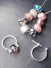 Silver Plated Glass Costume Charms & Charm Bracelets