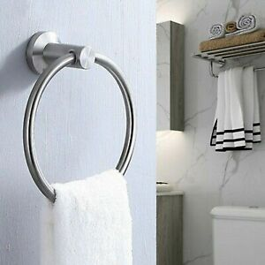Wall Mounted Chrome Polished Home Kitchen Bathroom Hand Towel Ring Round Holder