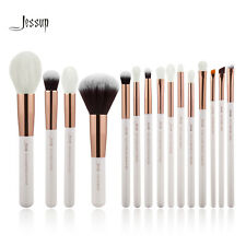 Jessup Cosmetic Brush Set Powder Brow Eyeliner Shadow 15Pcs Natural -Synthentic