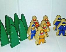 Thomas Train Wooden Brio, Wood People Trees Figure Set 15 Pcs